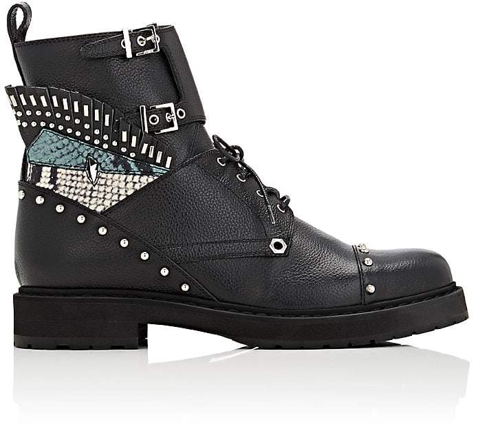 Fendi Women's Buggies-Eye Leather Combat Boots