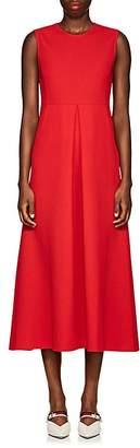Lisa Perry Women's Wool Crepe Sheath Midi-Dress