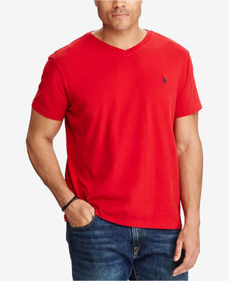 Polo Ralph Lauren Men Big and Tall Classic-Fit V-Neck Short-Sleeve Cotton Jersey T-Shirt