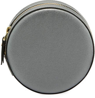 Neiman Marcus Saffiano Round Carryall Case