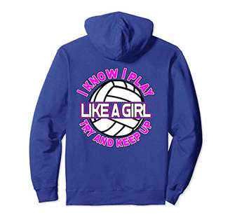 Funny Volleyball Hoodie For Girls & Teens Back Print