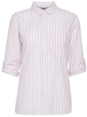 B.young Purple Stripe Shirt