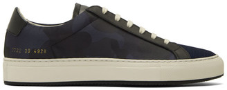 Common Projects Blue Camo Achilles Low Sneakers