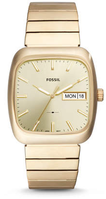 Fossil Rutherford Three-Hand Date Gold-Tone Stainless Steel Watch
