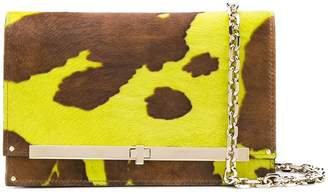 Casadei animal print clutch bag
