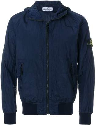 Stone Island zipped fitted jacket