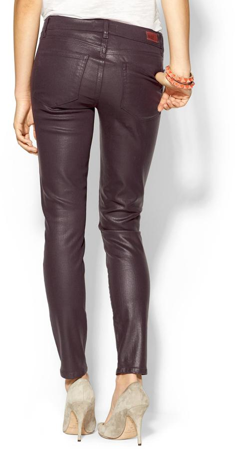 Paige Silk Coated Verdugo Ankle Skinny