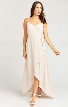 Show Me Your Mumu Mariah Wrap Dress ~ Show Me the Ring Crisp