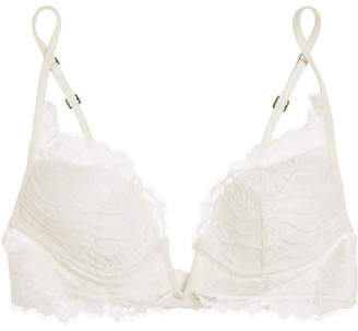 La Perla Desert Rose Soutache-trimmed Lace Padded Bra - Cream