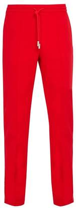 Off-White Off White Logo Jacquard Side Striped Jersey Track Pants - Mens - Red