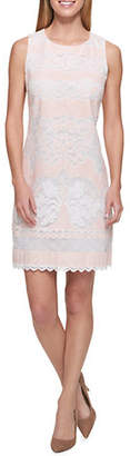 Tommy Hilfiger Scroll Lace Shift Dress