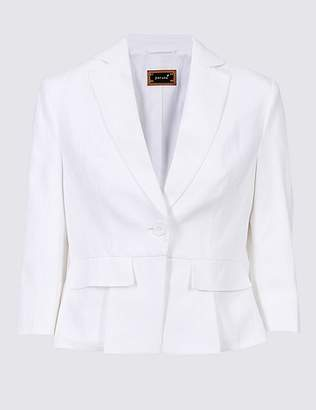Marks and Spencer Pure Linen Single Breasted Blazer