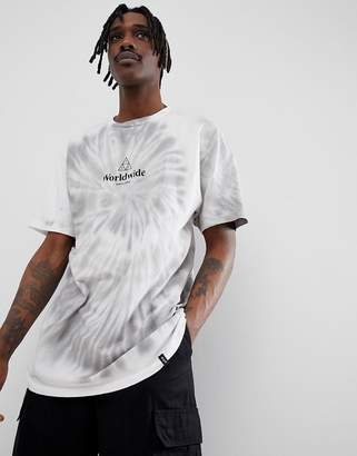 HUF tie dye t-shirt with logo in white