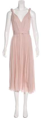 L'Agence Sleeveless Midi Gown