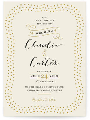 Milkglass Border Wedding Invitations
