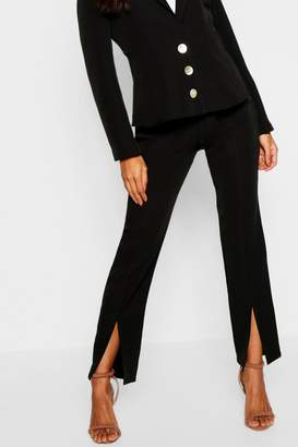 boohoo Split Front Tailored Pants