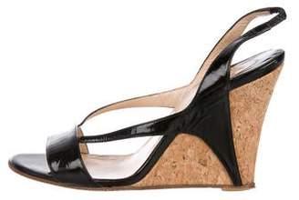 1c6c126f6c Christian Louboutin Patent Leather Slingback Sandals
