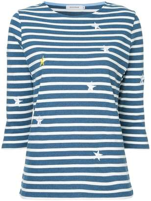 GUILD PRIME star embroidered striped top