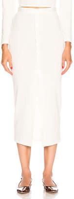 Fleur Du Mal Maxi Slit Skirt in Ivory | FWRD