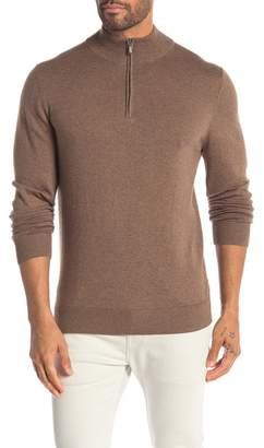 WALLIN & BROS Quarter Zip Long Sleeve Sweater