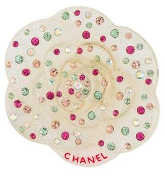 Chanel Crystal & Resin Flower Brooch