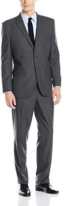 Greg Norman Men's Comfort Stretch Performance Traditional 2 Button Center Vent in a Modrn Fit Suit
