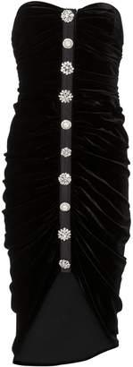 Veronica Beard Palo Ruched Velvet Dress