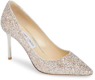Jimmy Choo Romy Glitter Pointy Toe Pump