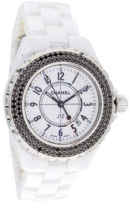 Chanel J12 Black Diamond Watch