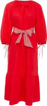 MDS Stripes Exclusive Garden Dress With Stripe Sash