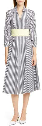 STAUD Harper Midi Shirtdress