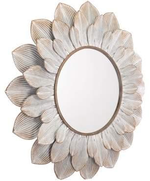 Bungalow Rose Derik Floral Distressed Accent Mirror
