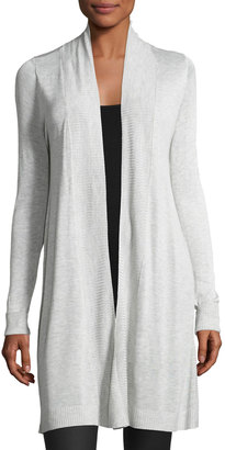 Neiman Marcus Long-Sleeve Open-Front Cardigan $56 thestylecure.com