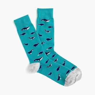 J.Crew Whale print socks