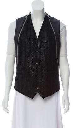 Givenchy Textured Moto Vest