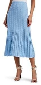 Altuzarra Women's Gabbiano Rib-Knit Fit & Flare Skirt - Lt Blue