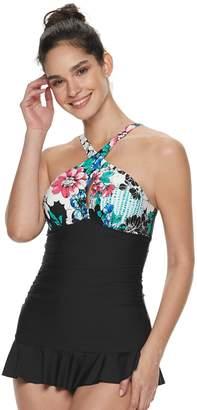 0728b36683854 Apt. 9 Women's Ruffled One-Piece Swimdress