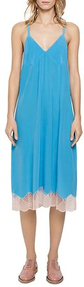 Zadig & Voltaire Cage Silk Slip Dress $348 thestylecure.com