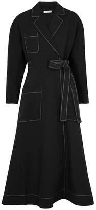 DAY Birger et Mikkelsen Rejina Pyo Kelsey Black Linen-blend Wrap Dress