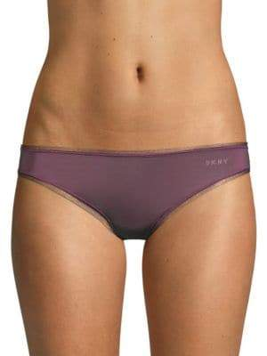 DKNY Mesh-Trimmed Bikini Panty