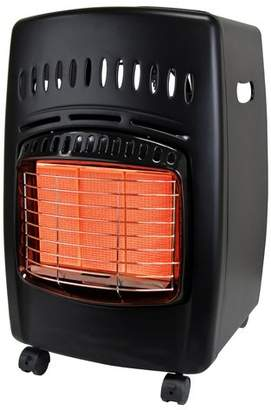 Dyna-Glo 18,000 BTU Portable Propane Radiant Compact Heater with Locking Casters and Piezo Ignition