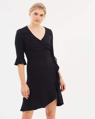Oasis Ruffle Front Tea Dress