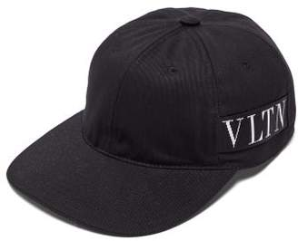 Valentino Logo Jacquard Cotton Canvas Cap - Mens - Black