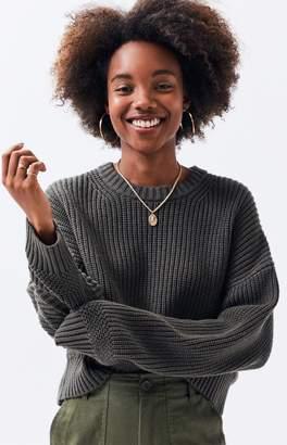 LA Hearts Mix Stitch Pullover Sweater
