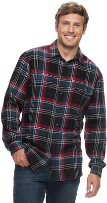 Sonoma Goods For Life Big & Tall SONOMA Goods for Life Modern-Fit Supersoft Flannel Button-Down Shirt