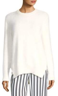 Yigal Azrouel Side Slit Angora Sweater