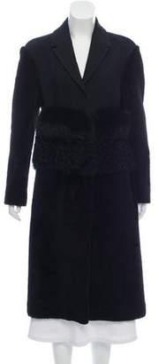 Burberry Shearling Fur-Trimmed Coat