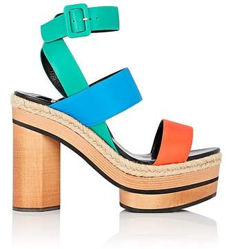 Pierre Hardy Women's Colorblocked Leather Platform Sandals