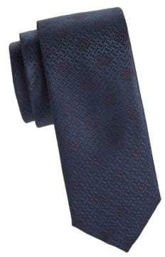 Canali Textured Dot SIlk Tie