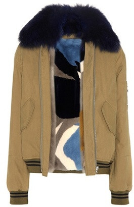 Army By Yves Salomon Fur-lined cotton jacket